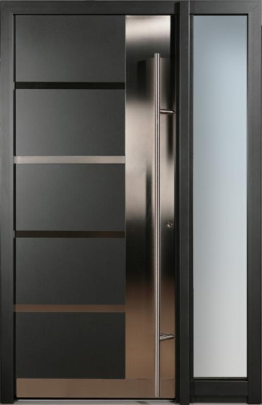Portoncini e sistemi di ingresso in alluminio finstral for Modelos de puertas metalicas para viviendas