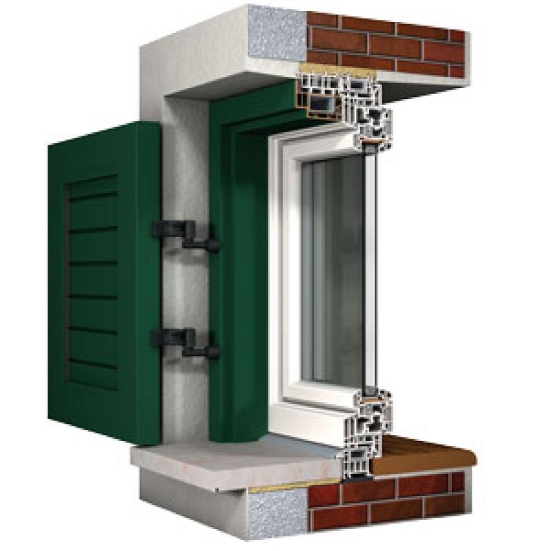 Sistema di controtelaio isolato di finstral qualit su ogni lato casabellacasasicura porte - Ponte termico finestra ...