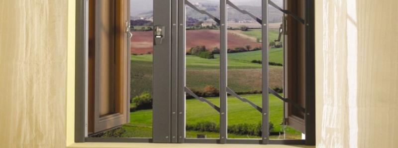 Tesiflex praesidium inferriate di sicurezza a scomparsa - Grate per finestre a scomparsa ...